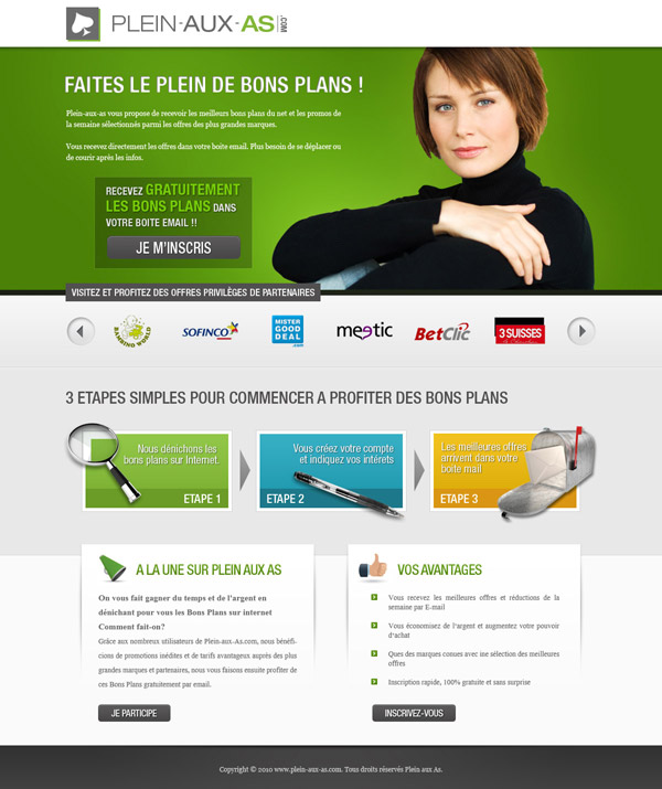 webdesign homepage plein aux as