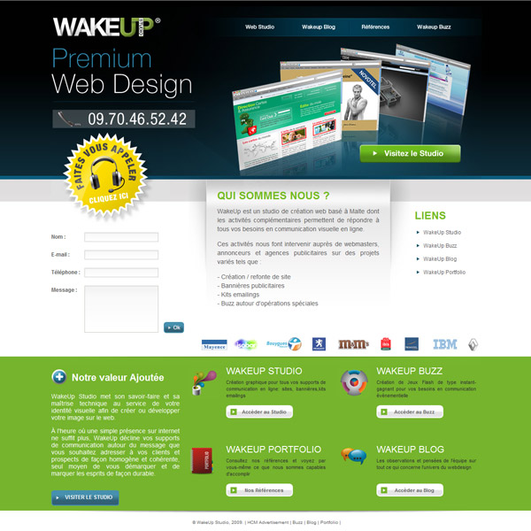 page adwords site wakeup studio
