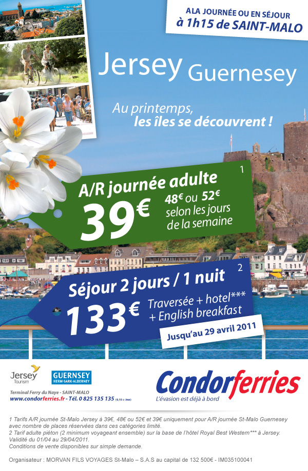 creation graphique email condor ferries