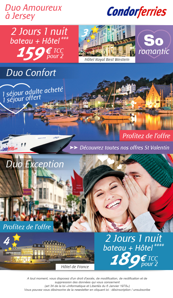 Webdesign et intergration emailing condor ferries