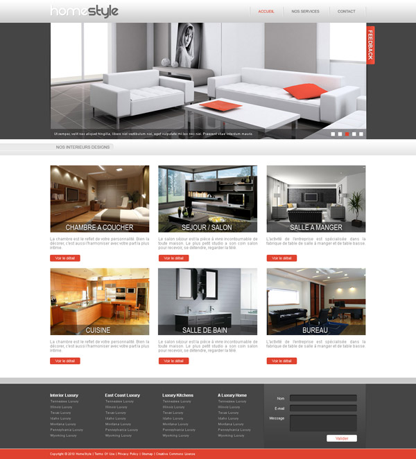 realisation du graphisme de home design
