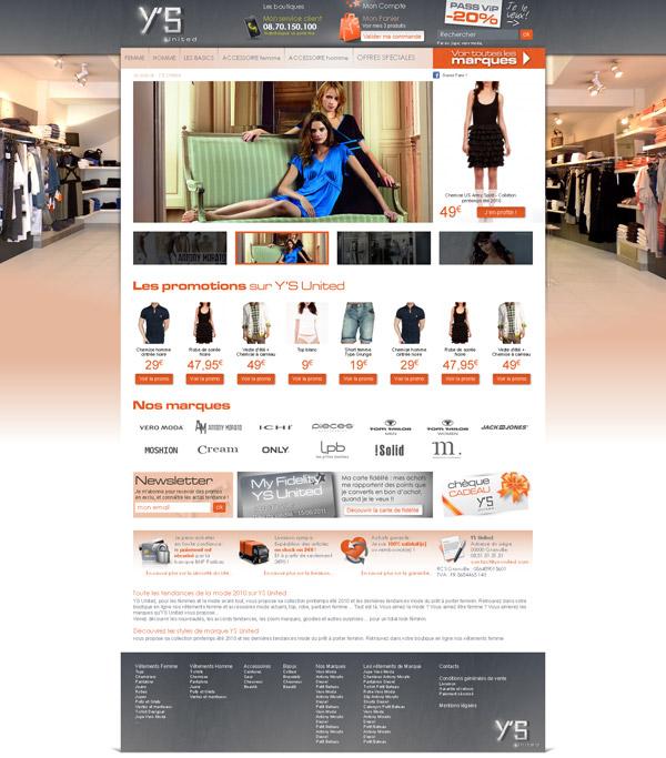 Creation webdesign YS united